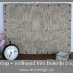 burlap and nailhead bulletin board thumb