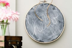 chalkboard-embroidery-hoop-on-wall