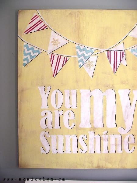 vintage you are my sunshine side
