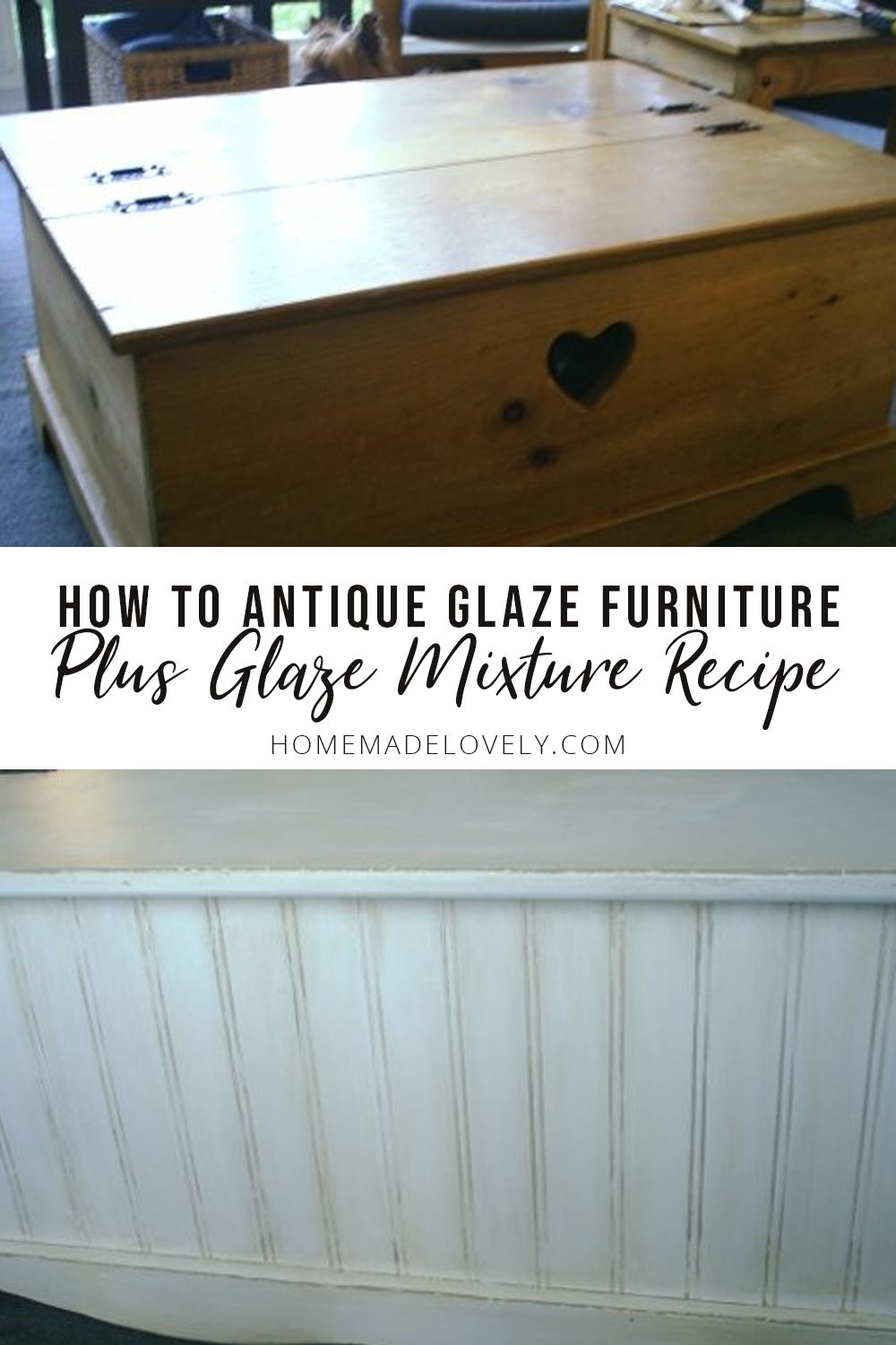 how to antique glaze furniture