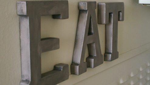 Make Your Own Zinc-Look Letters