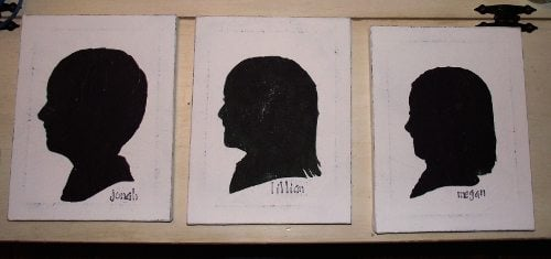 silhouette canvases from 2012