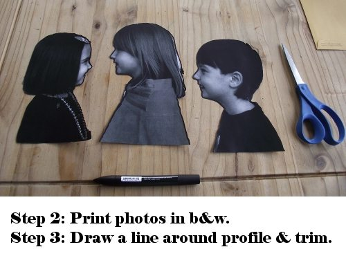 cut out profile pictures for diy silhouettes