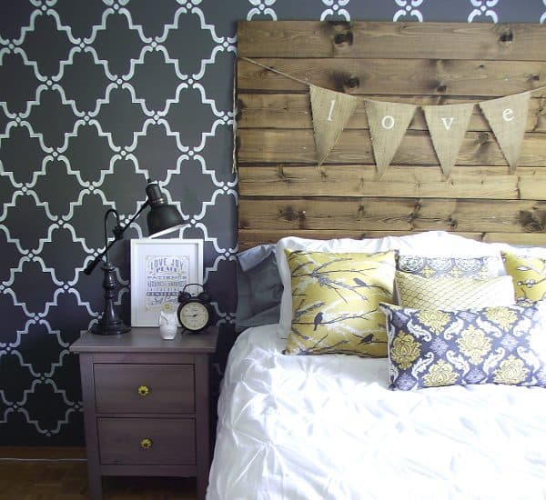 DIY reclaimed wood look headboard