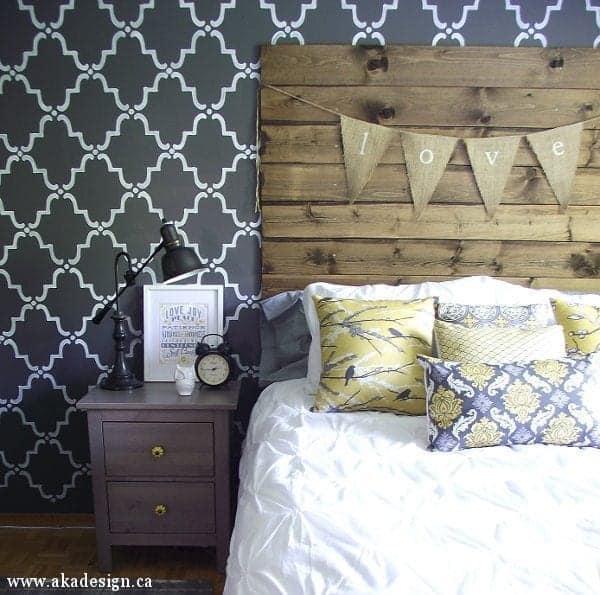 DIY reclaimed wood look headboard