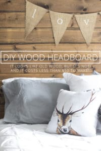 diy wood headboard with new wood for less than $50