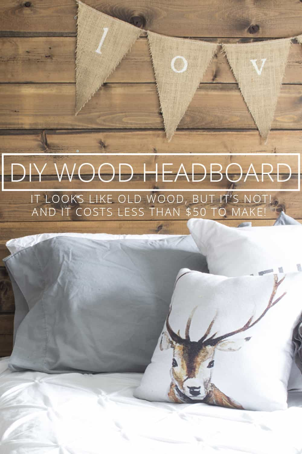 diy wood headboard with new wood for less than