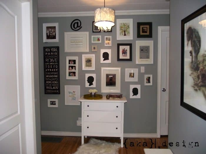 How to Make a Gallery Wall the Easy Way with Your Own DIY Template