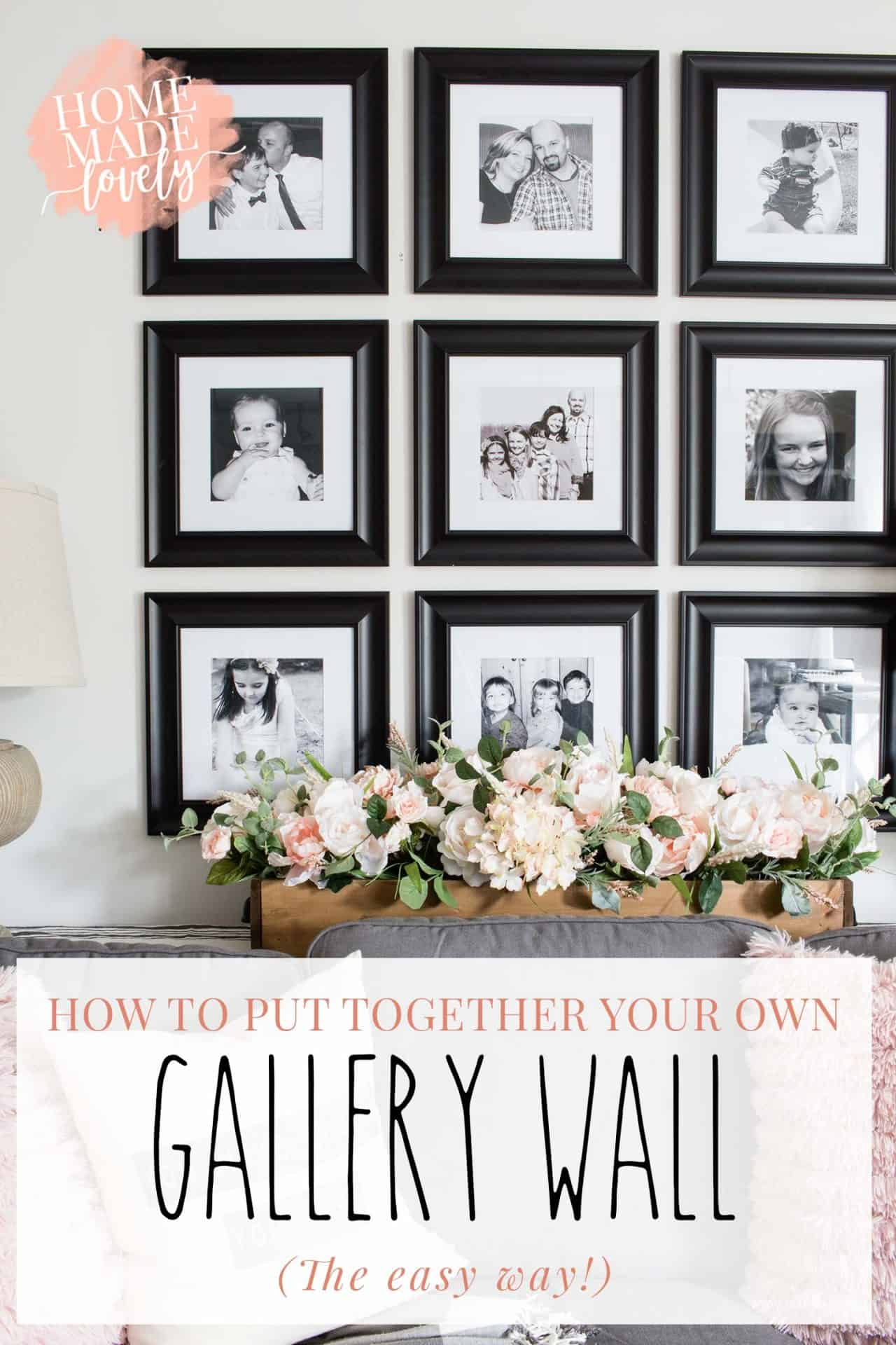 So you want to create a gallery wall somewhere in your home. Here's the quick and easy way to make sure you do it right the first time - without unnecessary holes in the wall!