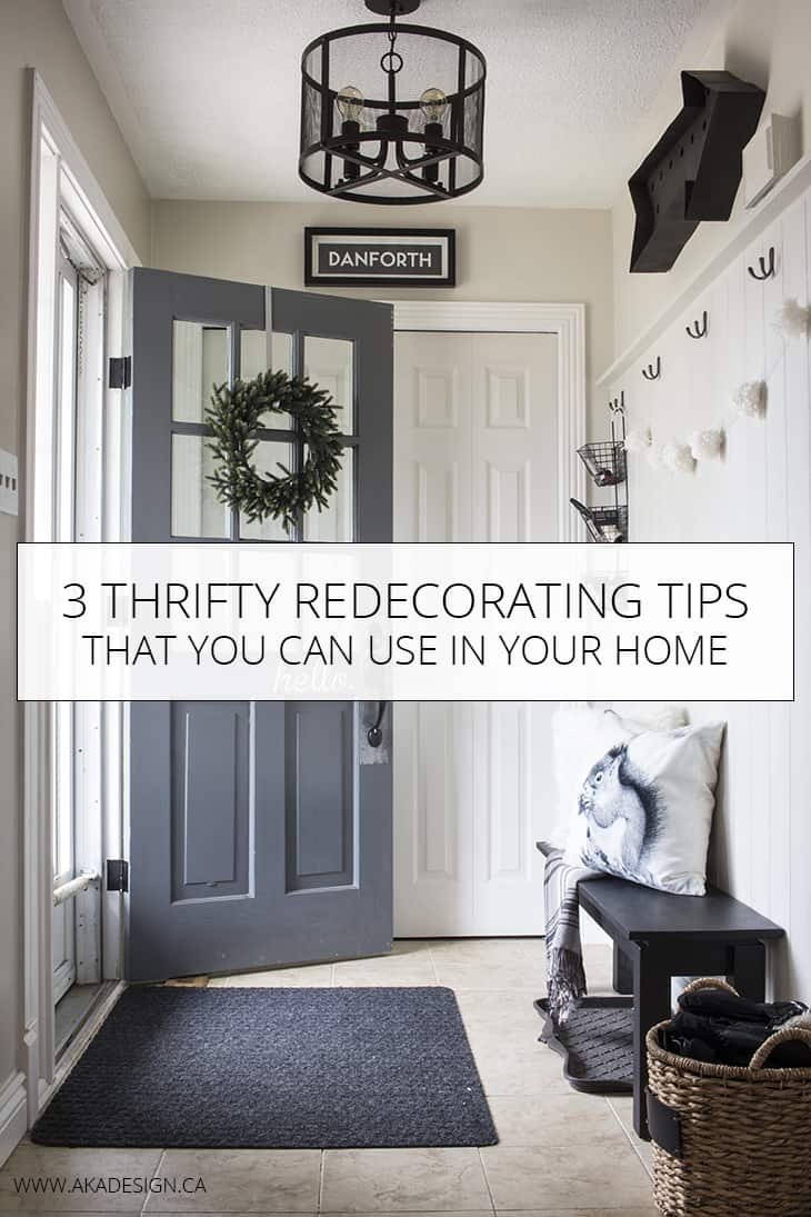 Good reminders of how to be frugal when decorating my house.
