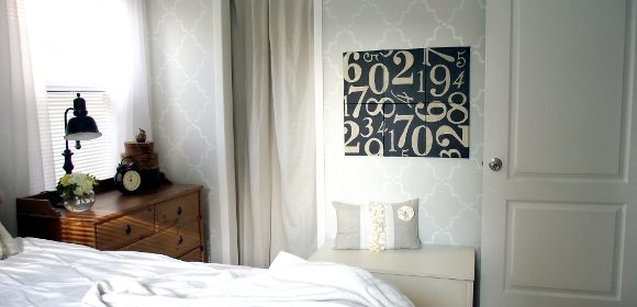 Pottery Barn Inspired Numbers Canvas for Less Than $30
