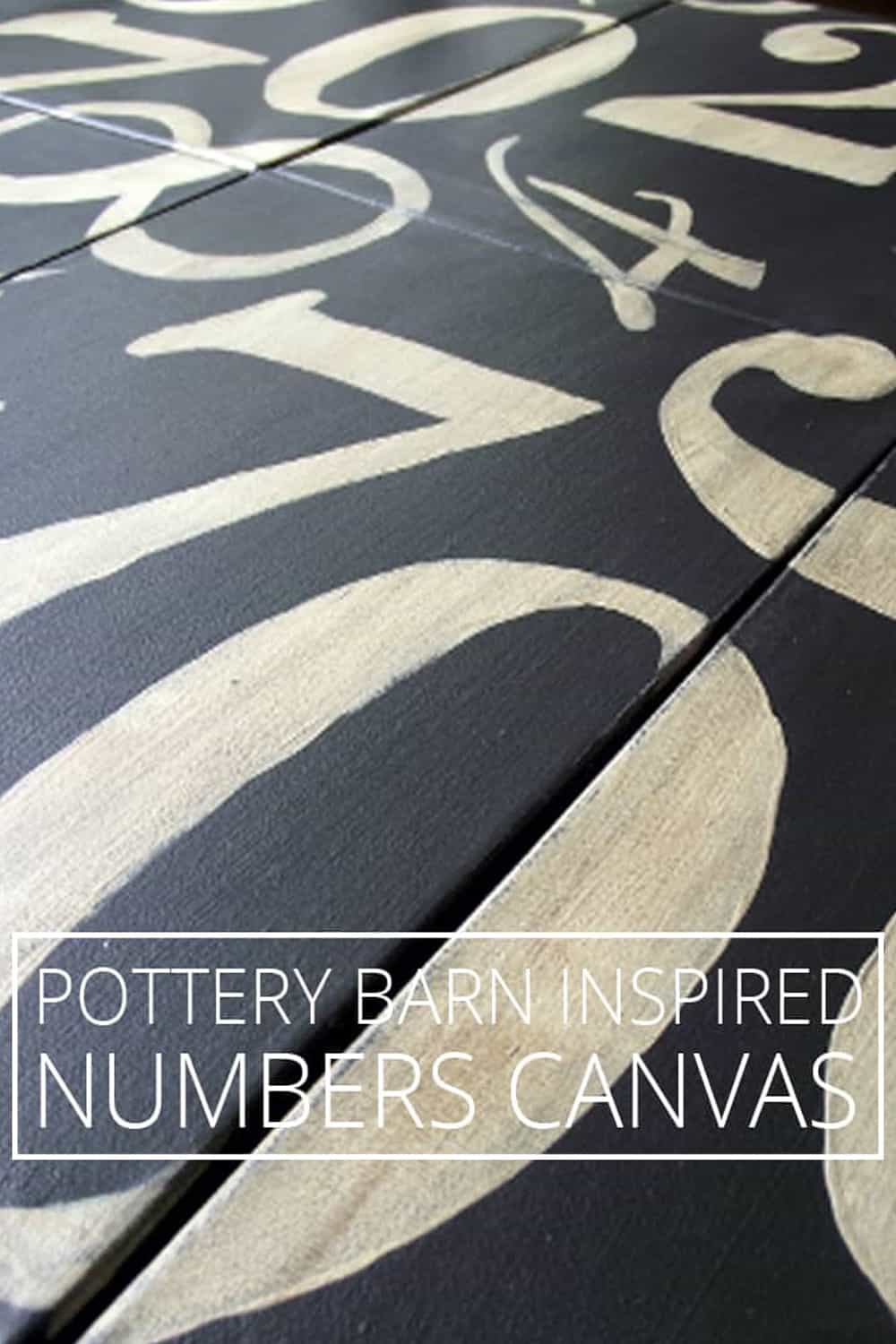 Pottery Barn Inspired Numbers Canvas for Less Than