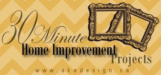 30 minute home improvement project graphic