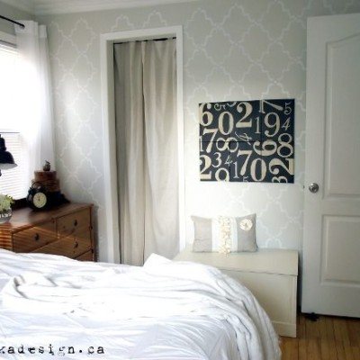 Royal Design Studio Stencilled Bedroom Wall