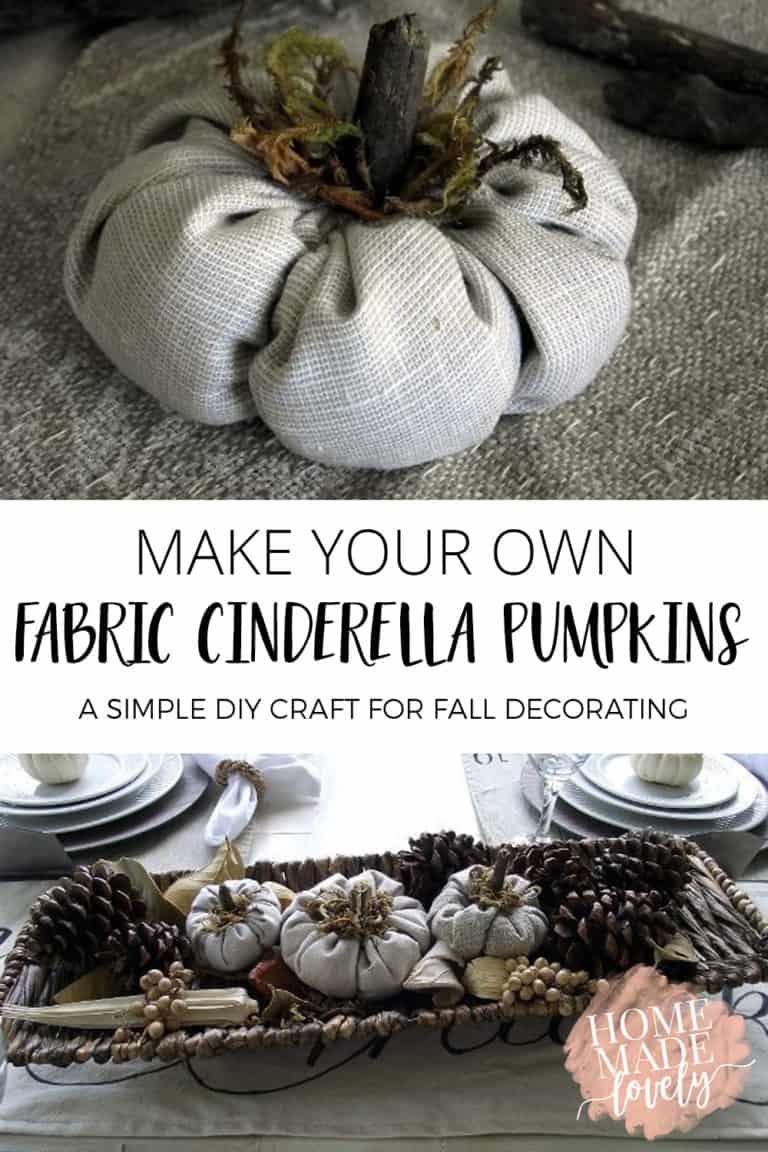 fabric cinderella pumpkins pin