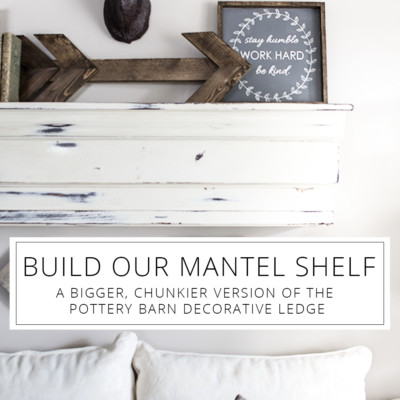 Build a Faux Mantel Shelf For YOUR House to Decorate Each Season!