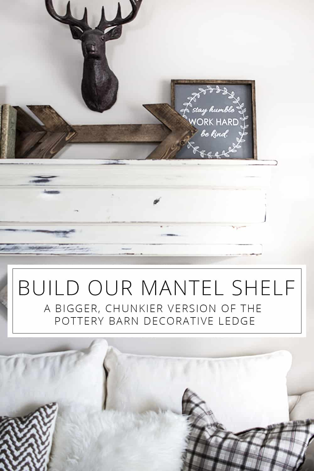 build our faux mantel/diy mantel shelf