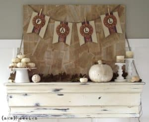 scrapbook paper fall banner