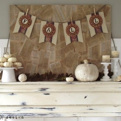 DIY Project: Scrapbook Paper Fall Banner