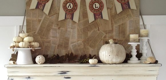 DIY Project: Scrapbook Paper Fall Banner