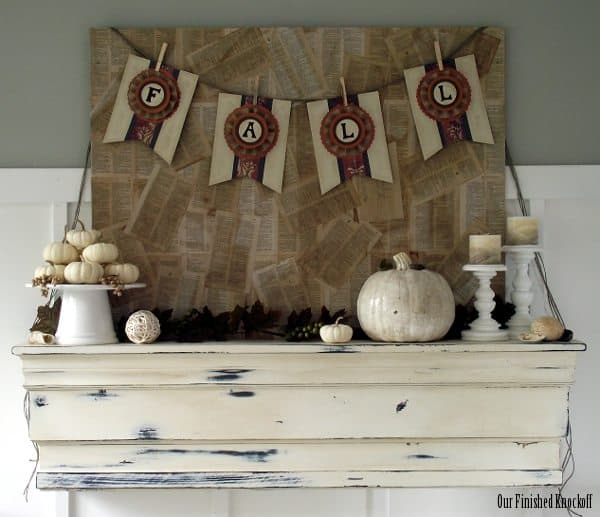 Build A Faux Mantel Shelf For Your House To Decorate Each
