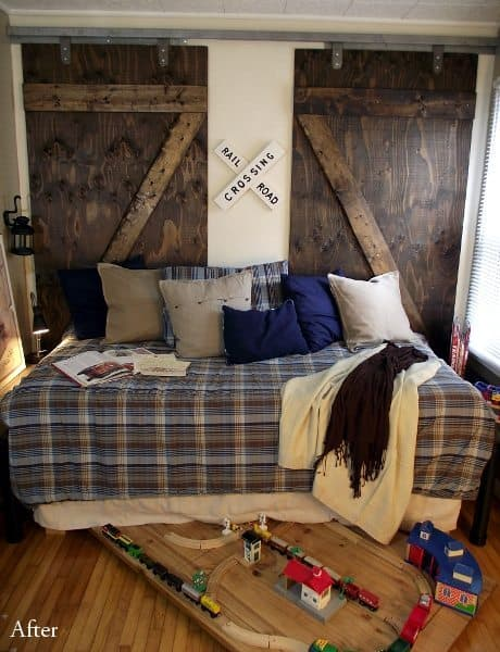 train bedroom barn door
