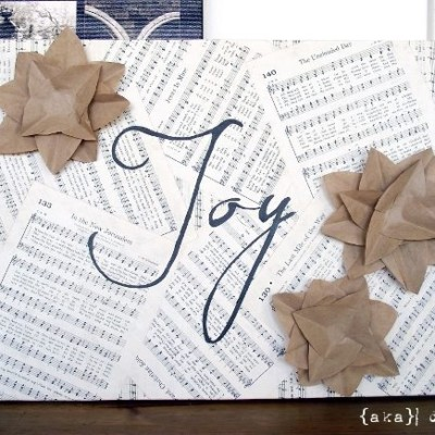 DIY Project: Embellished Joy Canvas
