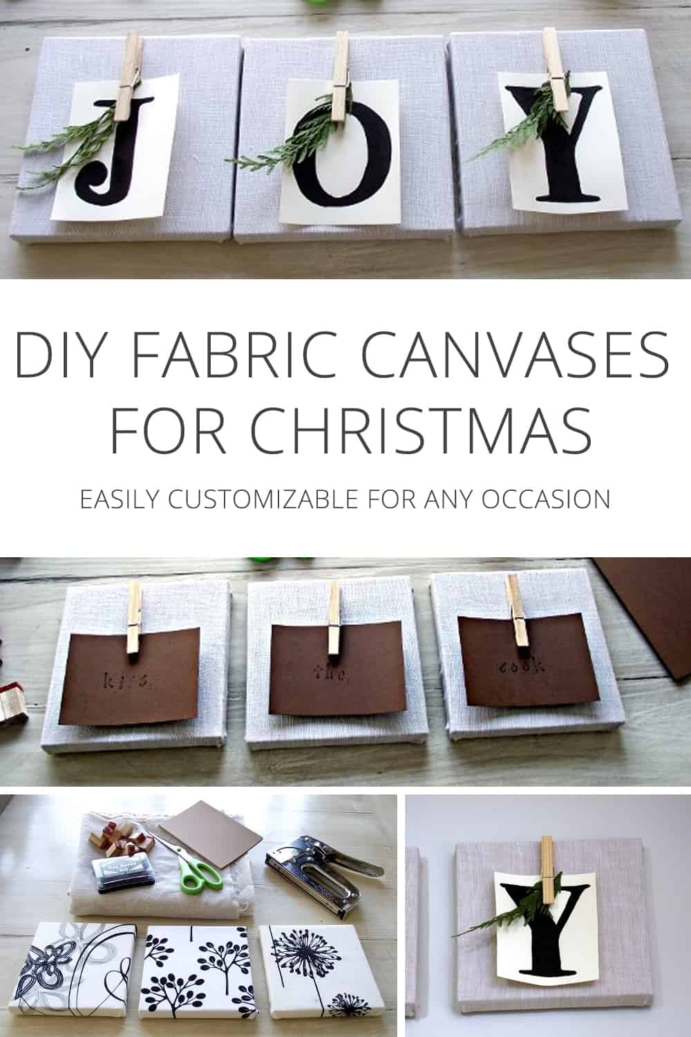 DIY Fabric Canvases for Christmas