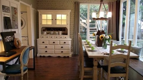 Our Bungalow Before & After: Dining Room {2009 & 2011}