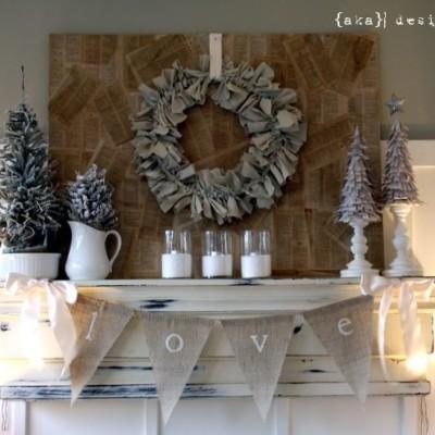 Christmas Home Tour, Mantel & Links To Our Christmas Crafts