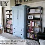 diy restoration hardware inspired shelves