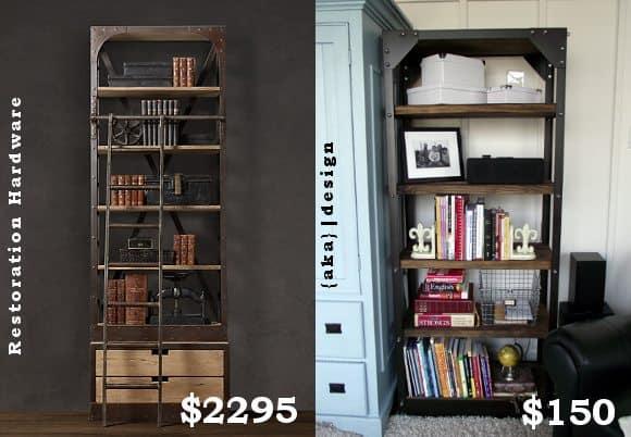 diy restoration hardware bookshelf 3