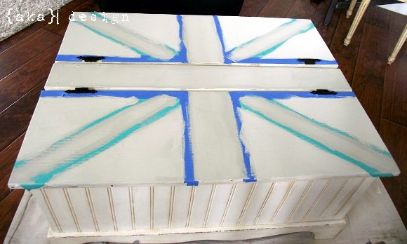 Union Jack Coffee Table Painted With Tape