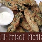 Un-Fried Fried Pickles | Recipe