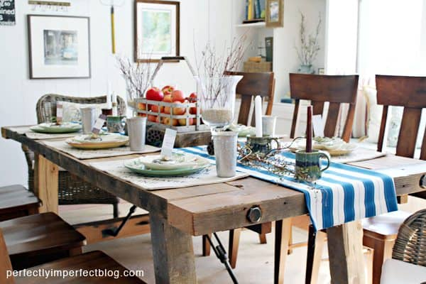 9 diy farmhouse tables that you can make yourself - Farmhouse kitchen table plans ...