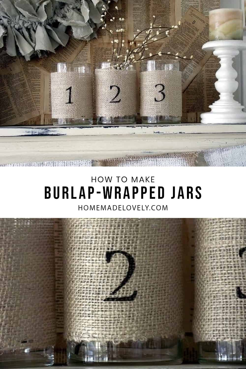 how to make burlap wrapped
