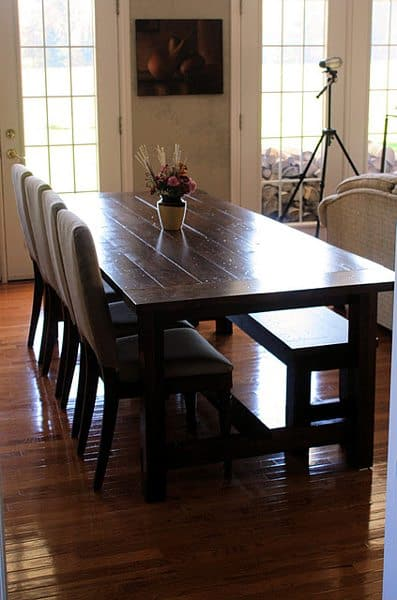 farmhouse dining table bench by landlocked