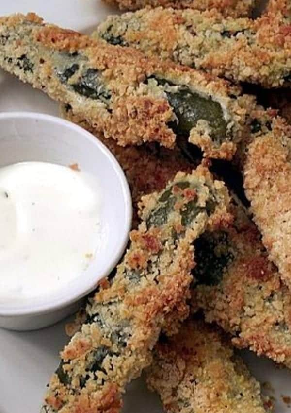 Baked Deep Fried Pickles – Tastes Like the Real Thing, But They're Baked!