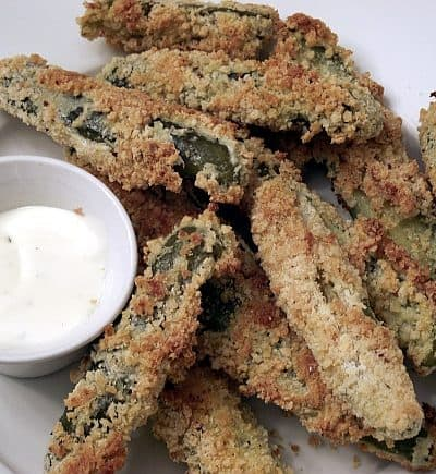 Un-Fried Fried Pickles