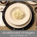DIY Chalkboard Chargers