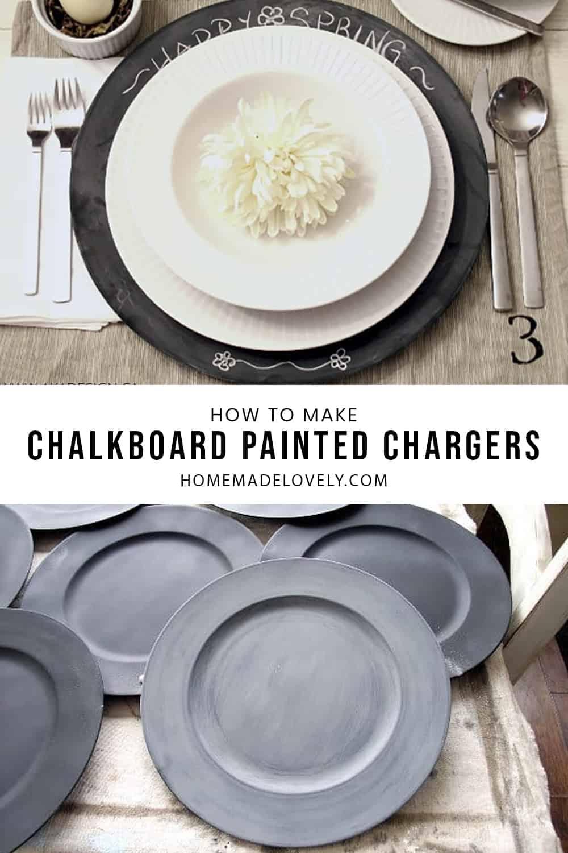 DIY Chalkboard Chargers