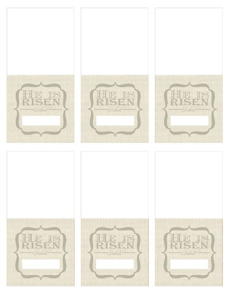 easter place cards