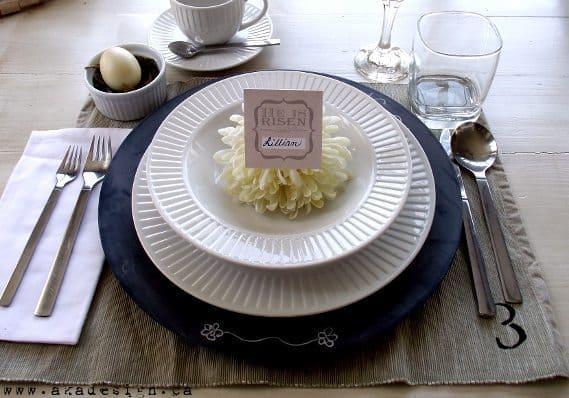 table setting with printable