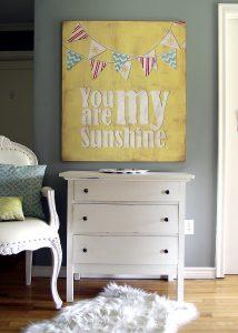 DIY Vintage You Are My Sunshine Sign