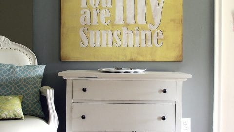 DIY Vintage You Are My Sunshine Sign