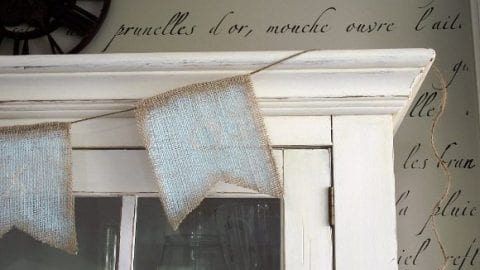 Painted Burlap Pennant Banner