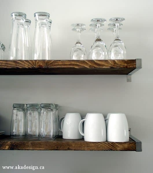 Kitchen Wood Shelves: How To Make Wood Look Old In 3 Simple Steps