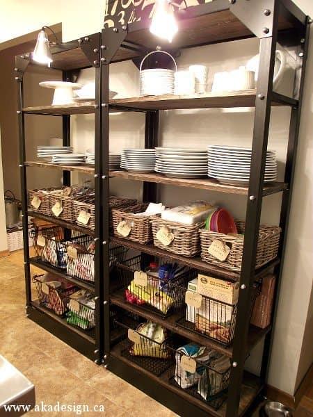 kitchen pantry open shelves