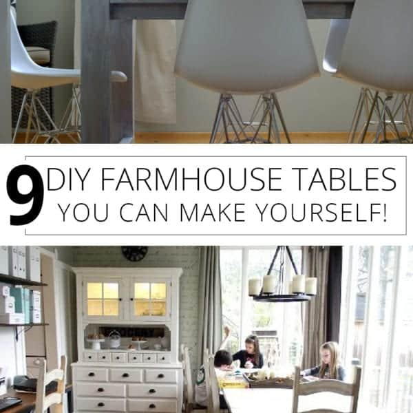 9 diy farmhouse tables you can make yourself