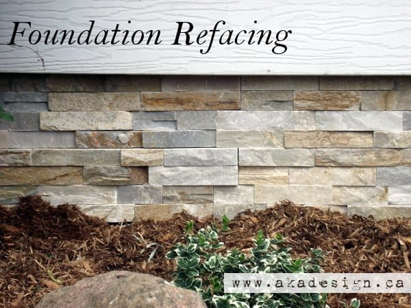 Foundation refacing how to cover a cinder block foundation for Block wall foundation